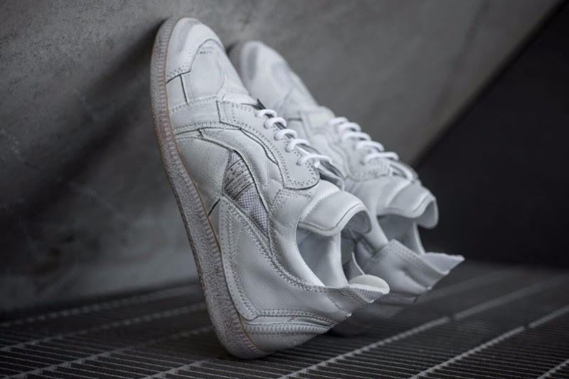 Maison Margiela Patchwork Sneakers Low Top White Leather Polyester