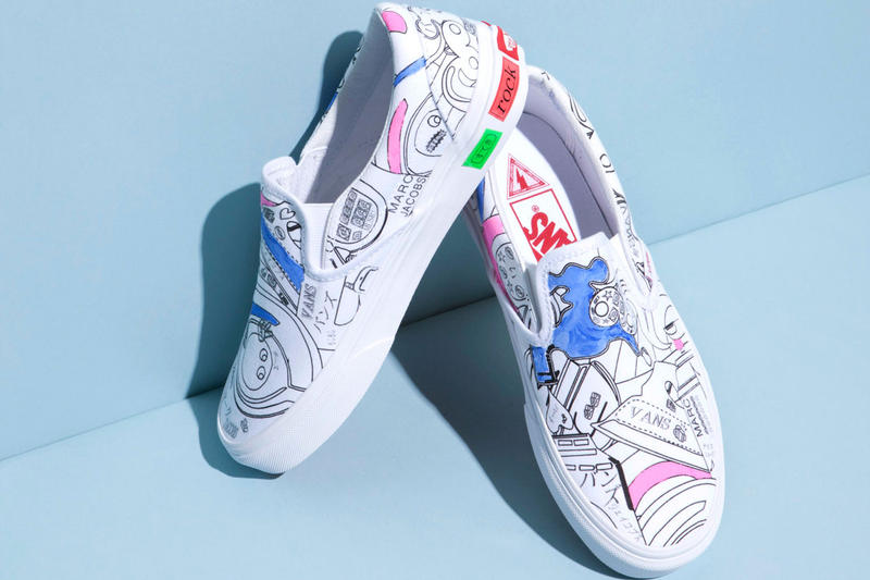39887b454a59ed Marc Jacobs x Vans 2017 Summer Slip-On Collection