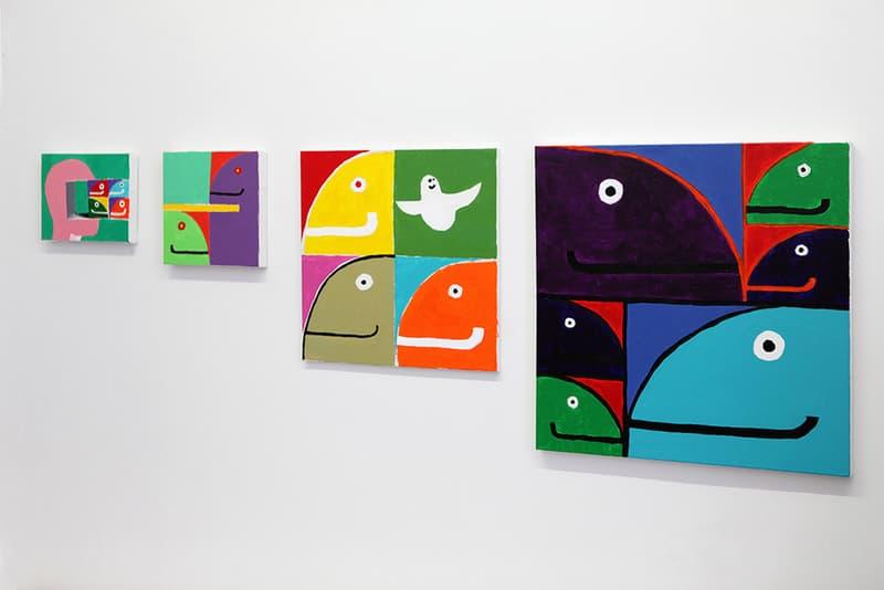 Mark Gonzales Fower Plower HVW8 Gallery Los Angeles California Exhibit Artwork