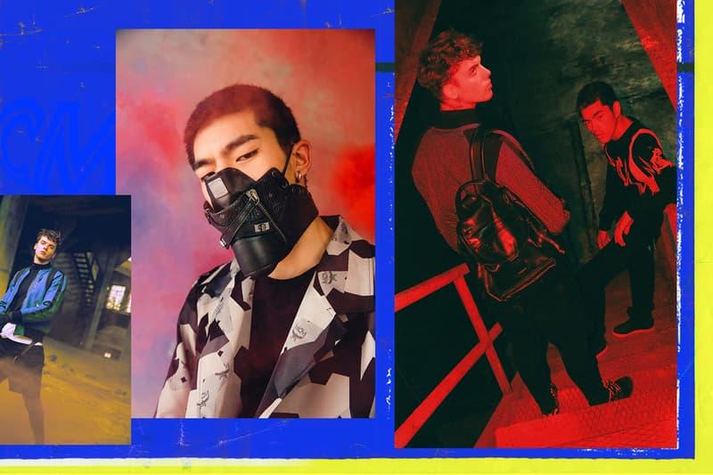 MCM x Designer Wang Zhijun black mask Killian Backpack and Viseto Sneakers 2017 Spring/Summer Lookbook
