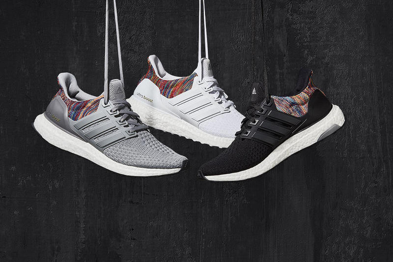 4268cd358365 Create your own custom multicolored kicks now in black and grey as well.  Miadidas Multicolor UltraBoost adidas sneakers shoes. Footwear ...