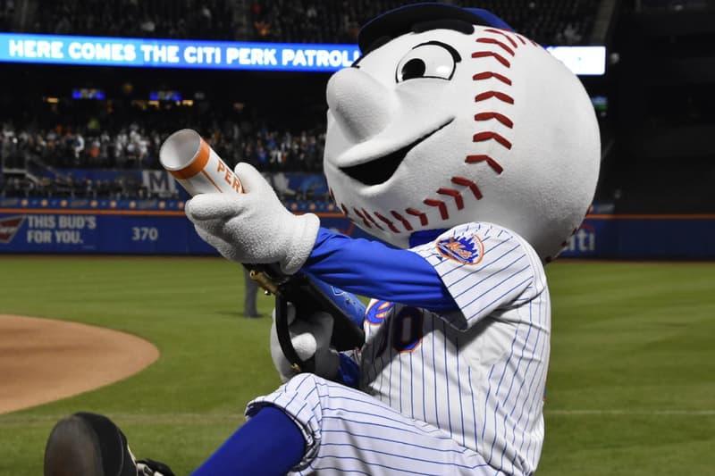 Mr. Met New York Mets MLB Baseball Mascots mlb major league baseball citi field stadium dugout