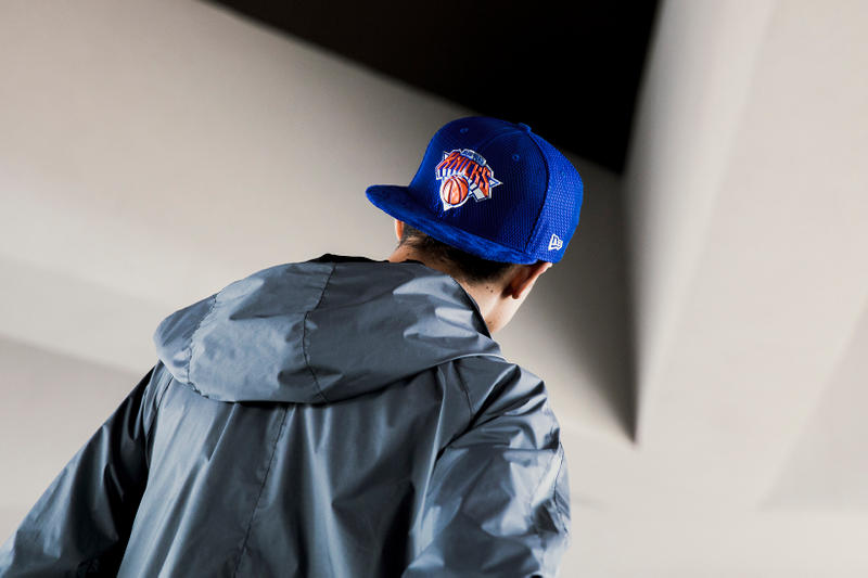 New Era x NBA Official On-Court Draft Series Collection blue New York Knicks Hat