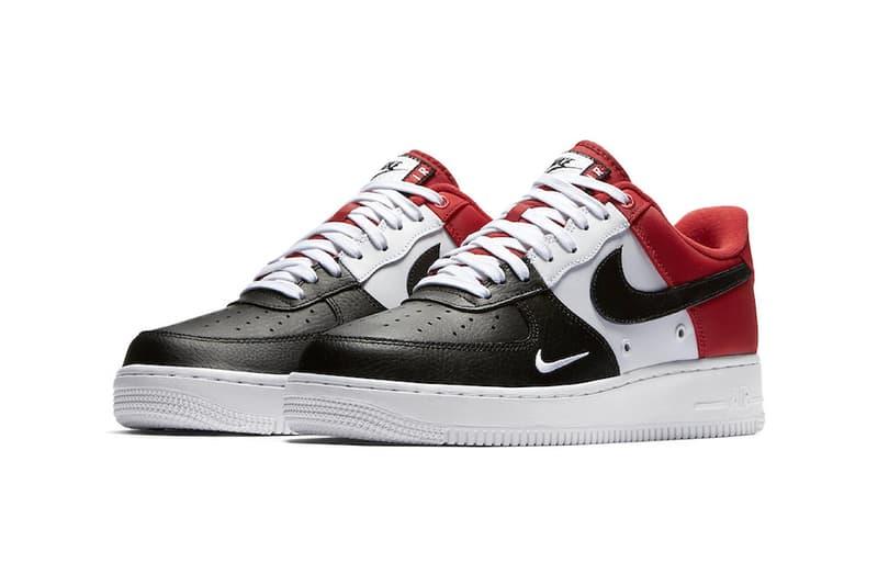 Nike Air Force 1 Low Mini Swoosh Black Toe Hypebeast