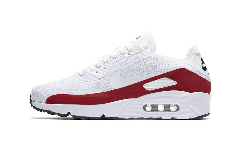 promo code 83846 d4b9e Nike Air Max 90 Ultra 2.0 Flyknit White and Red | HYPEBEAST