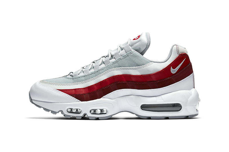 "Nike Air Max 95 ""Wolf Grey/Team Red"""