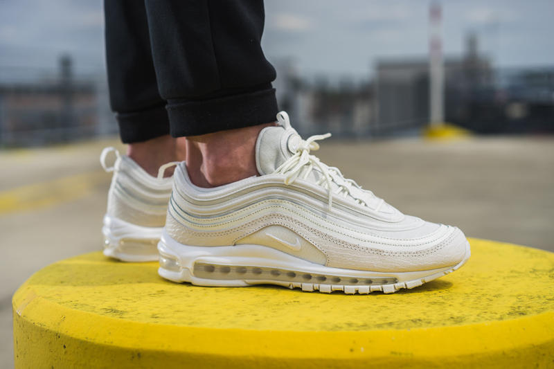 online store 054bc 80b9a Nike Air Max 97 White Snakeskin On Feet