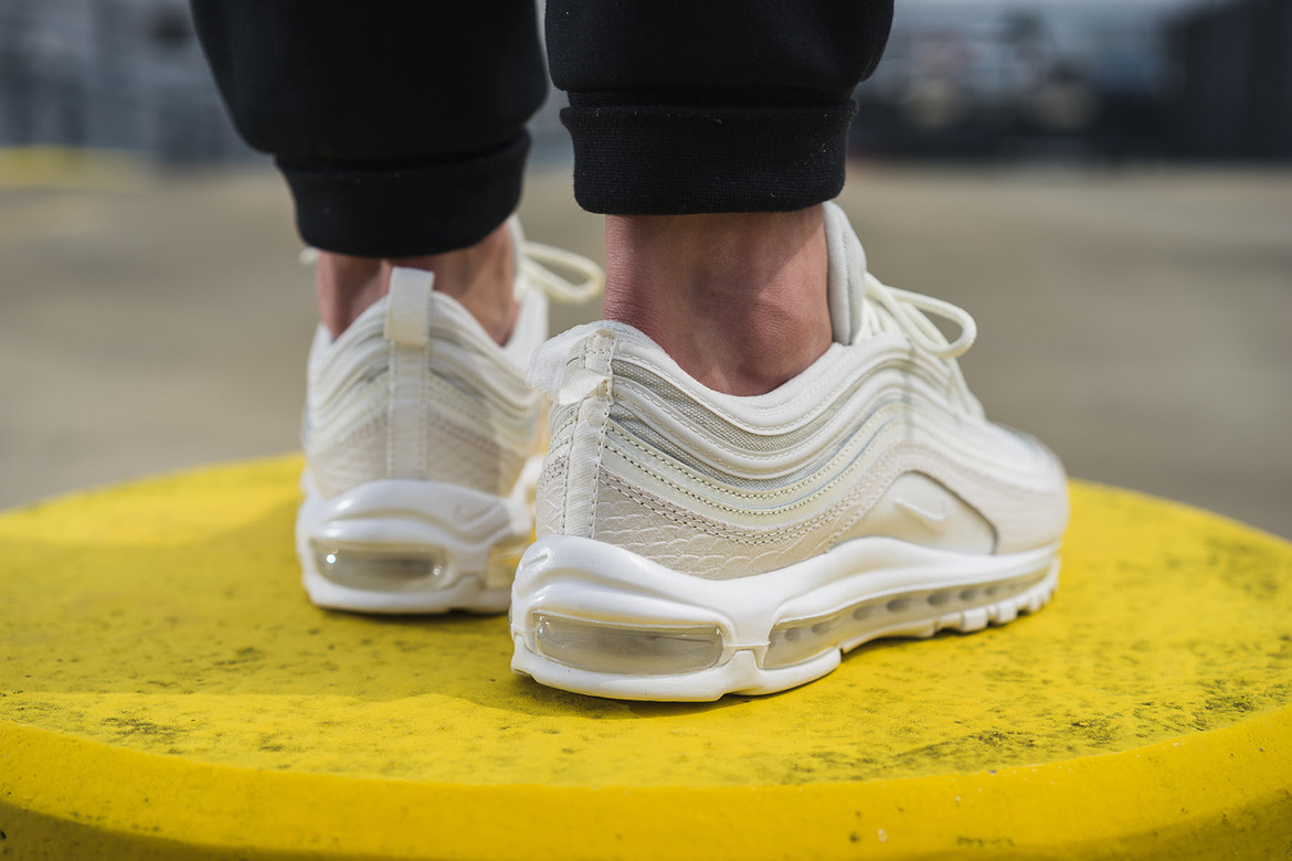 Nike Air Max 97 White Snakeskin On Feet Hypebeast