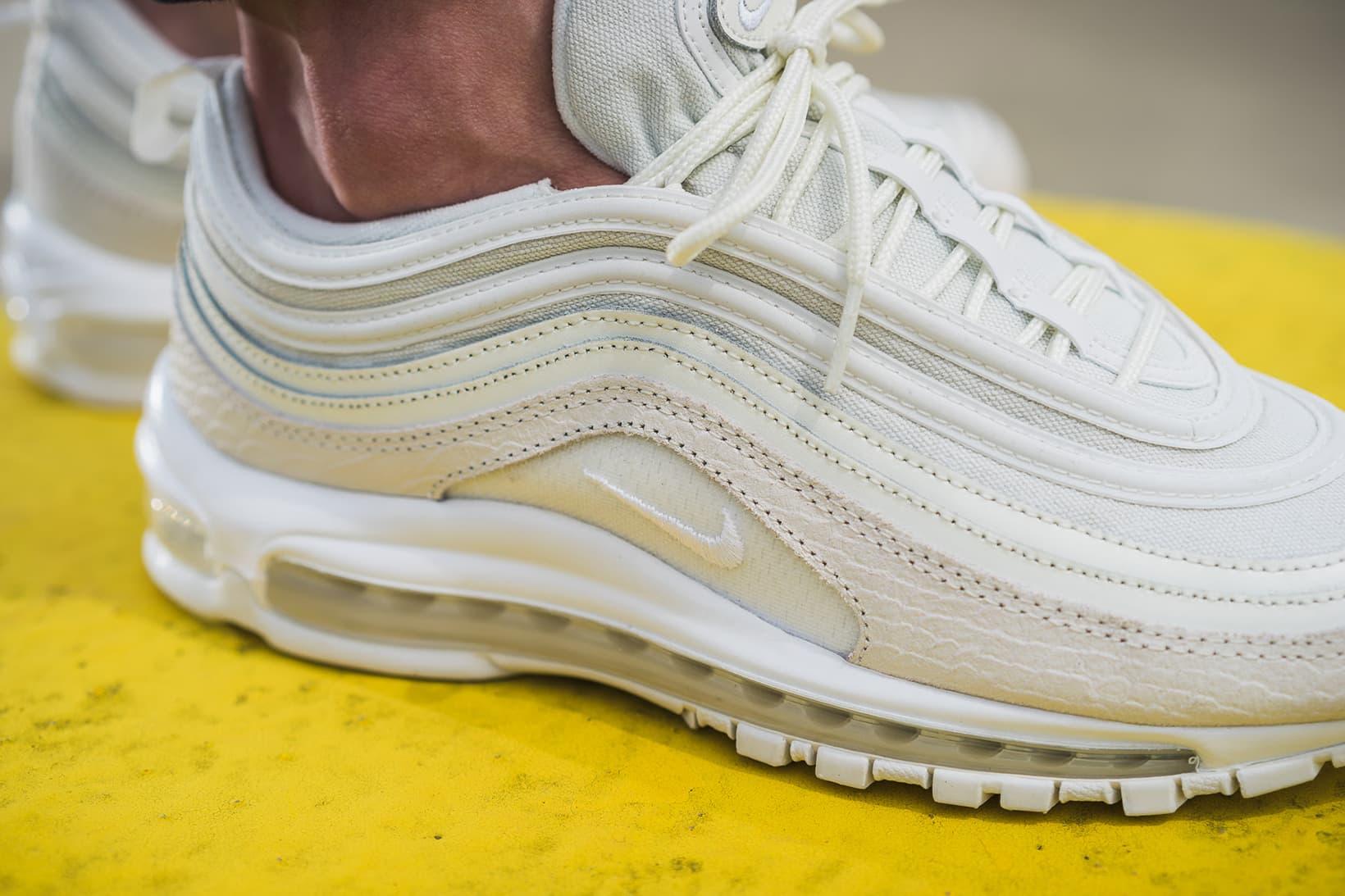 Nike Air Max 97 White Snakeskin On Feet Hypebeast