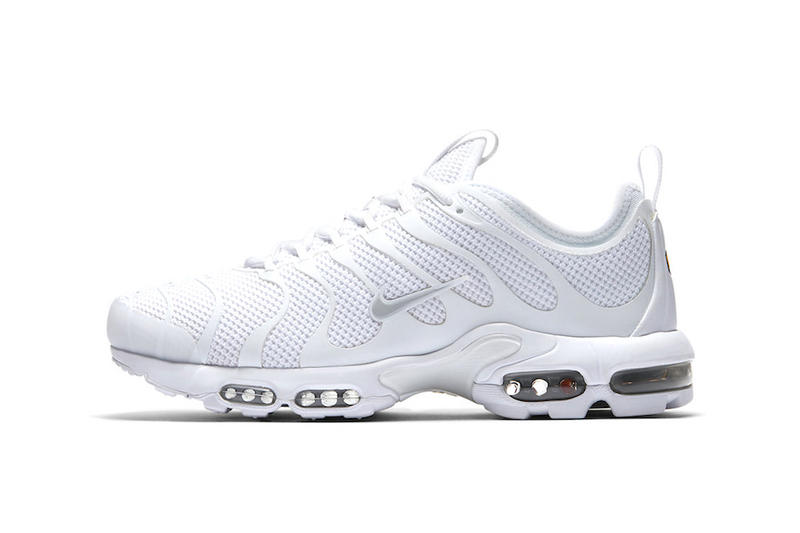Nike Air Max Plus TN Ultra Triple White Footwear Sneakers Trainers Running Shoes Nike Swoosh