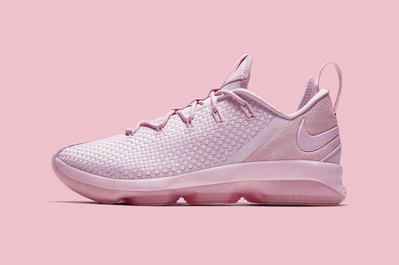 Nike LeBron 14 Low Mint Green Pastel Pink Colorway