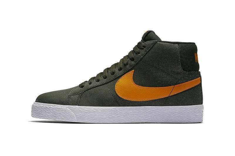 Nike SB Blazer Mid Olive Green Orange