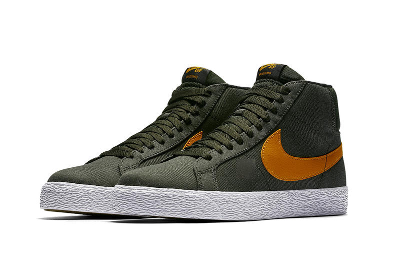 Nike SB Blazer Mid Olive Green Orange