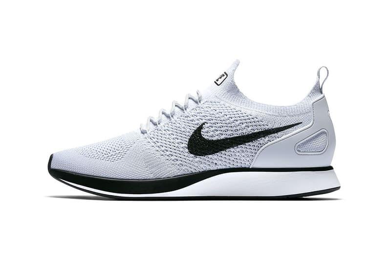 242b2006ff58f Nike Air Zoom Mariah Flyknit Racer Pure Platinum Black White