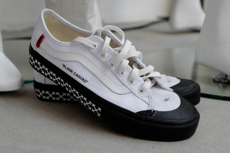 """Off-White x Vans Collaboration """"Blank Canvas"""""""