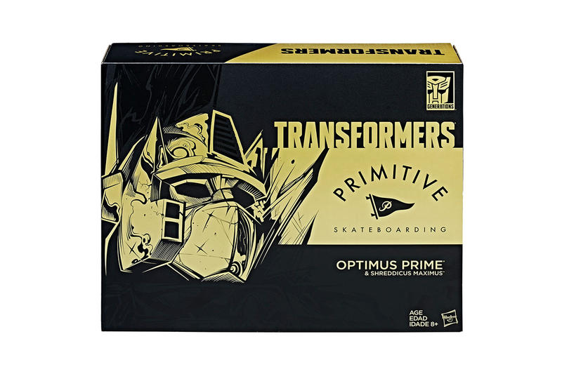 Paul Rodriguez Special Edition Primitive Skateboarding Transformer Transformers Last Knight Optimus Prime Skateboarding hover board comic-con San Diego