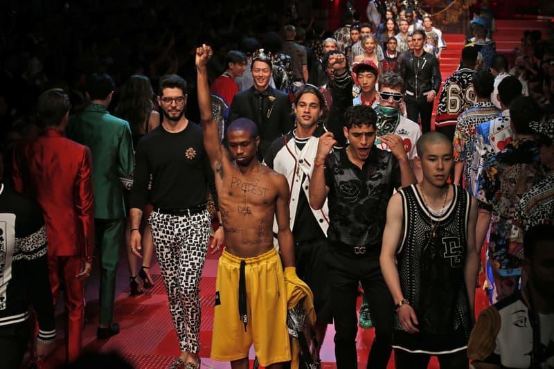 Raury Dolce Gabbana Protest Fashion Week
