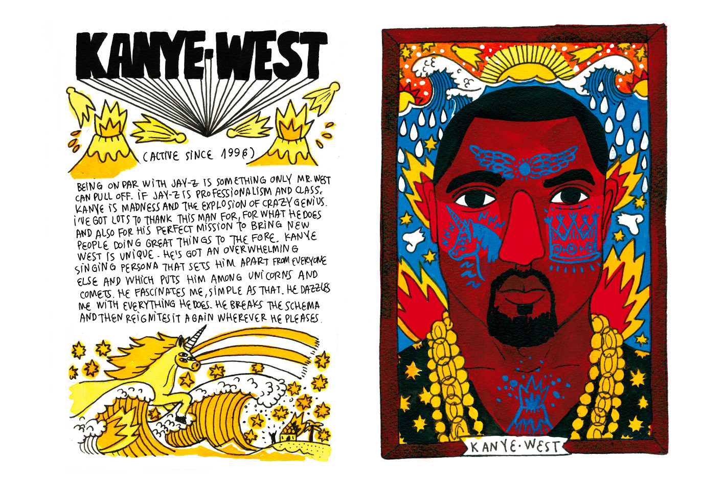 Ricardo Cavolo MURAL Festival 2017 Interview Kaytranada Mural Paintings Illustrations Artwork Kanye West Fashion