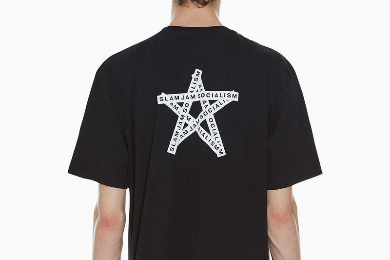 032c Slam Jam Socialism Tee Black White Star