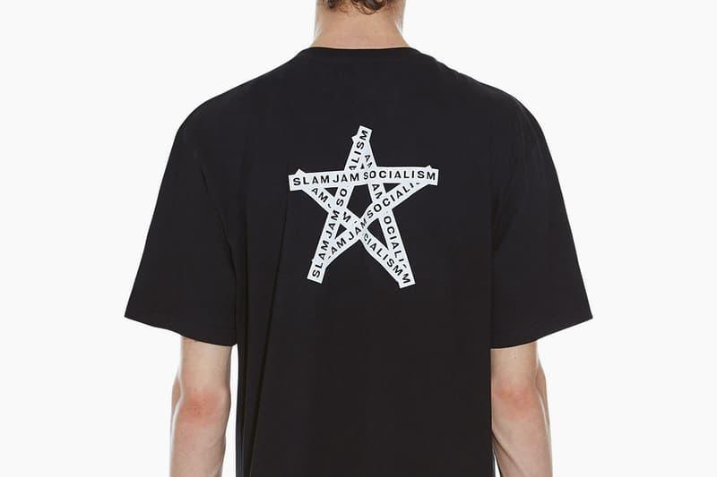 032c Slam Jam Socialism Tee Black White Star