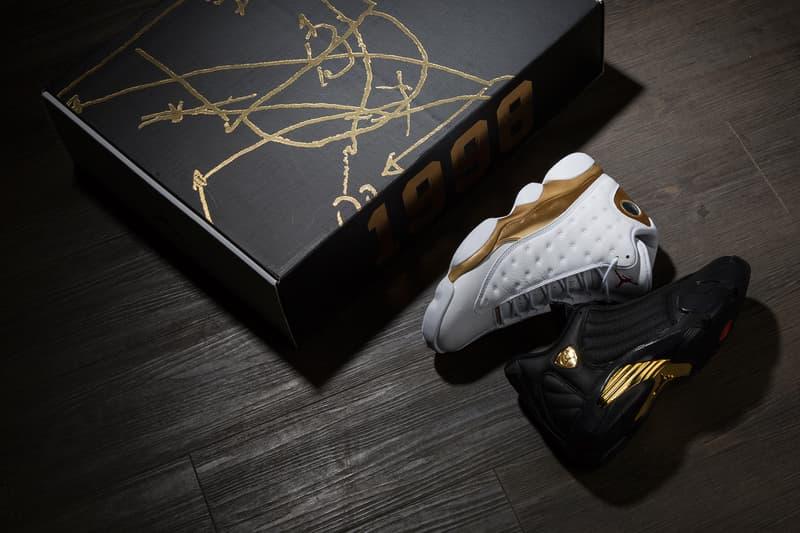 Nike Air Jordan 13/14 DMP Pack Black Gold White
