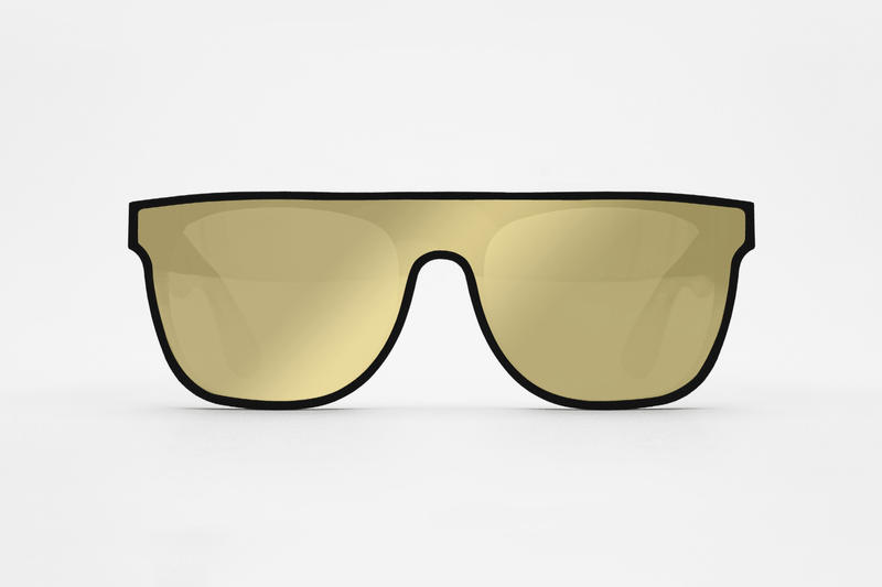 SUPER FORMA Flat Top Gold Sunglasses Retrosuperfuture 2017