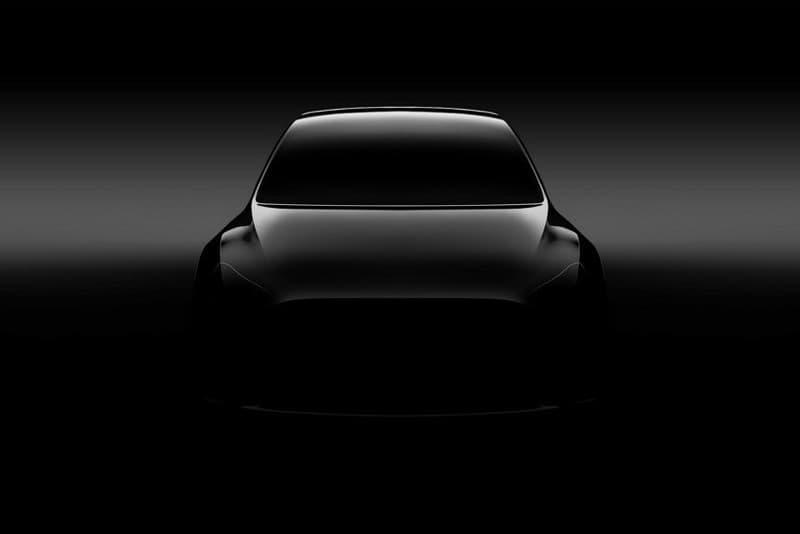 Tesla Model Y Elon Musk Crossover EV First Look Shadow Teaser