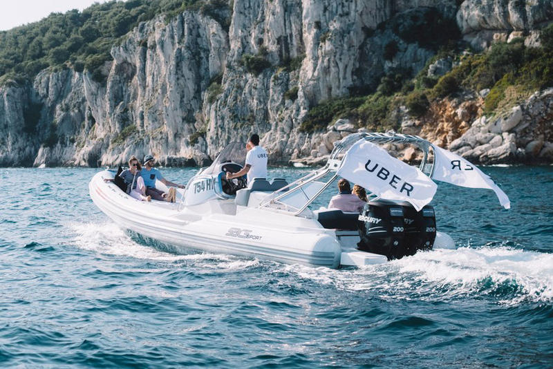 Uber UberBOAT Croatia Ride-sharing Service Dalmatian Coast Travel Transportation Summer 2017