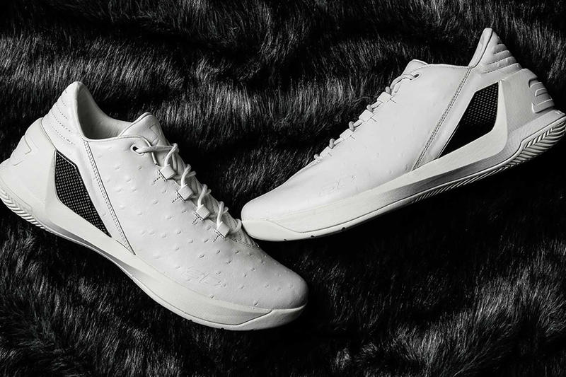 Under Armour Curry 3 Low White Ostrich Skin
