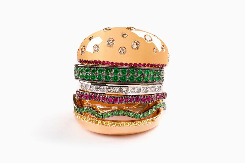 NIGO Nadine Ghosn Veggie Burger Ring Jewelry Luxury Accessories