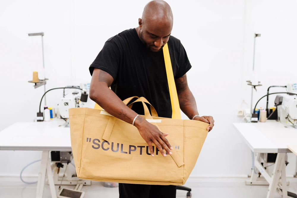 Virgil Abloh IKEA FRAKTA Bag SCULPTURE Home Design Democratic Design Days Sweden