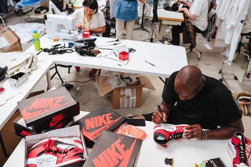 Virgil Abloh OFF WHITE Pitti Uomo 2018 Nike Air Jordan Off Court 1 Off Court 2 Florence