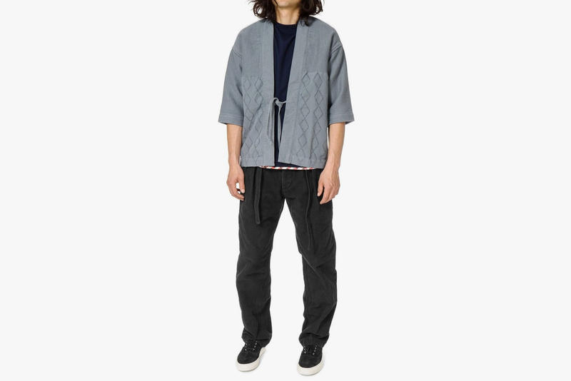 visvim Peerless Luxsic Cotton Sanjuro Jacket Blue