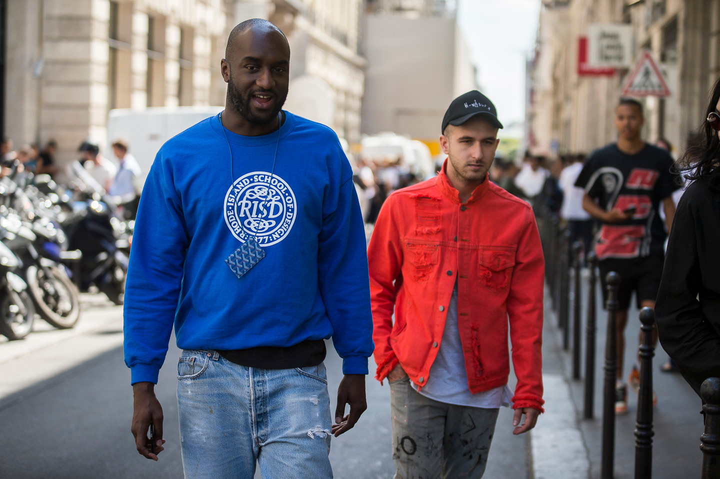 Virgil Abloh and Friends at VLONE Show For Street Style