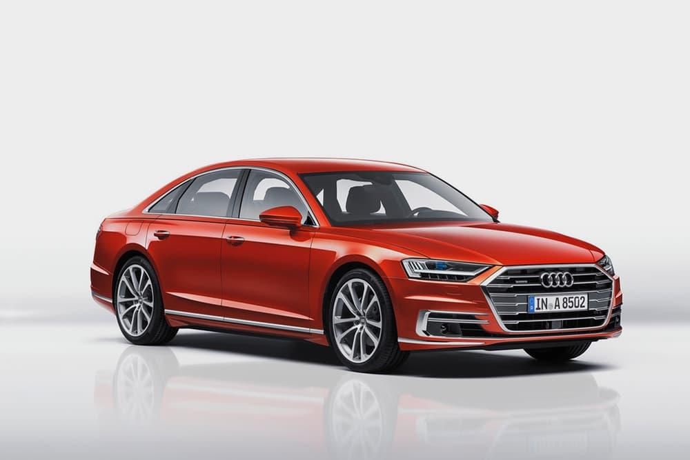 Red Audi A8