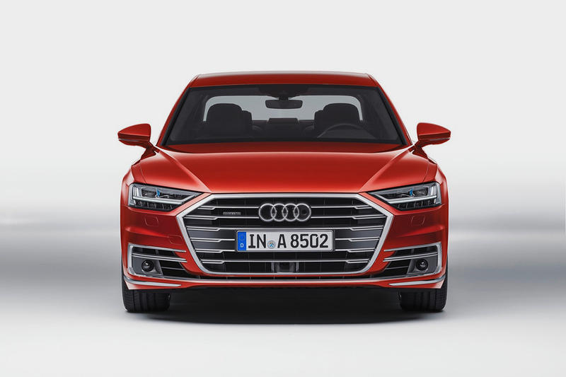 Red Audi A8