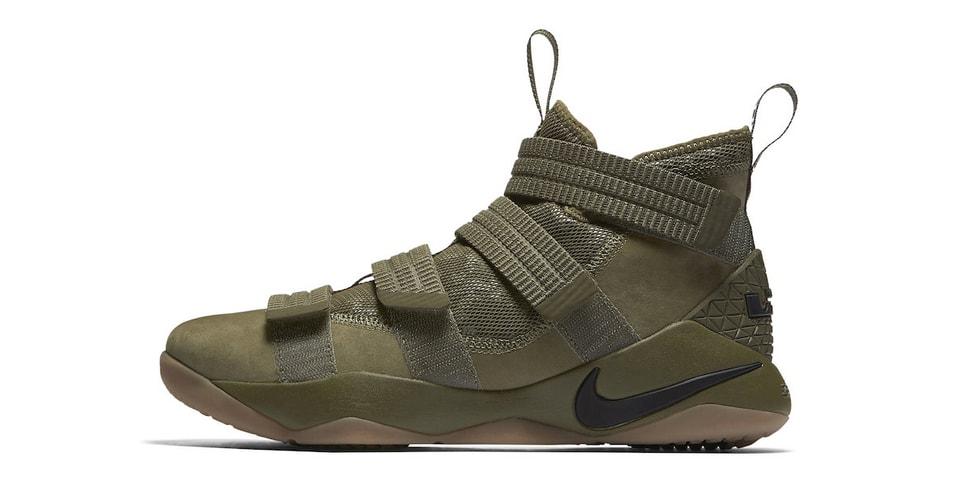555eb8937ae Nike LeBron Soldier 11 SFG Olive Green Release