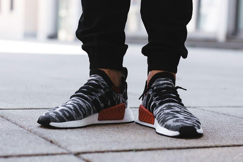 On Feet Look adidas NMD R2 Harvest