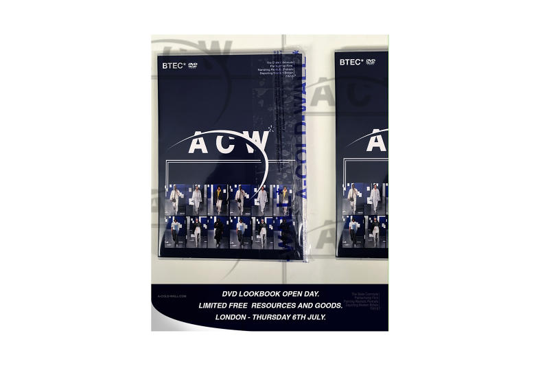 A-COLD-WALL* Concept Pop-Up Event DVD