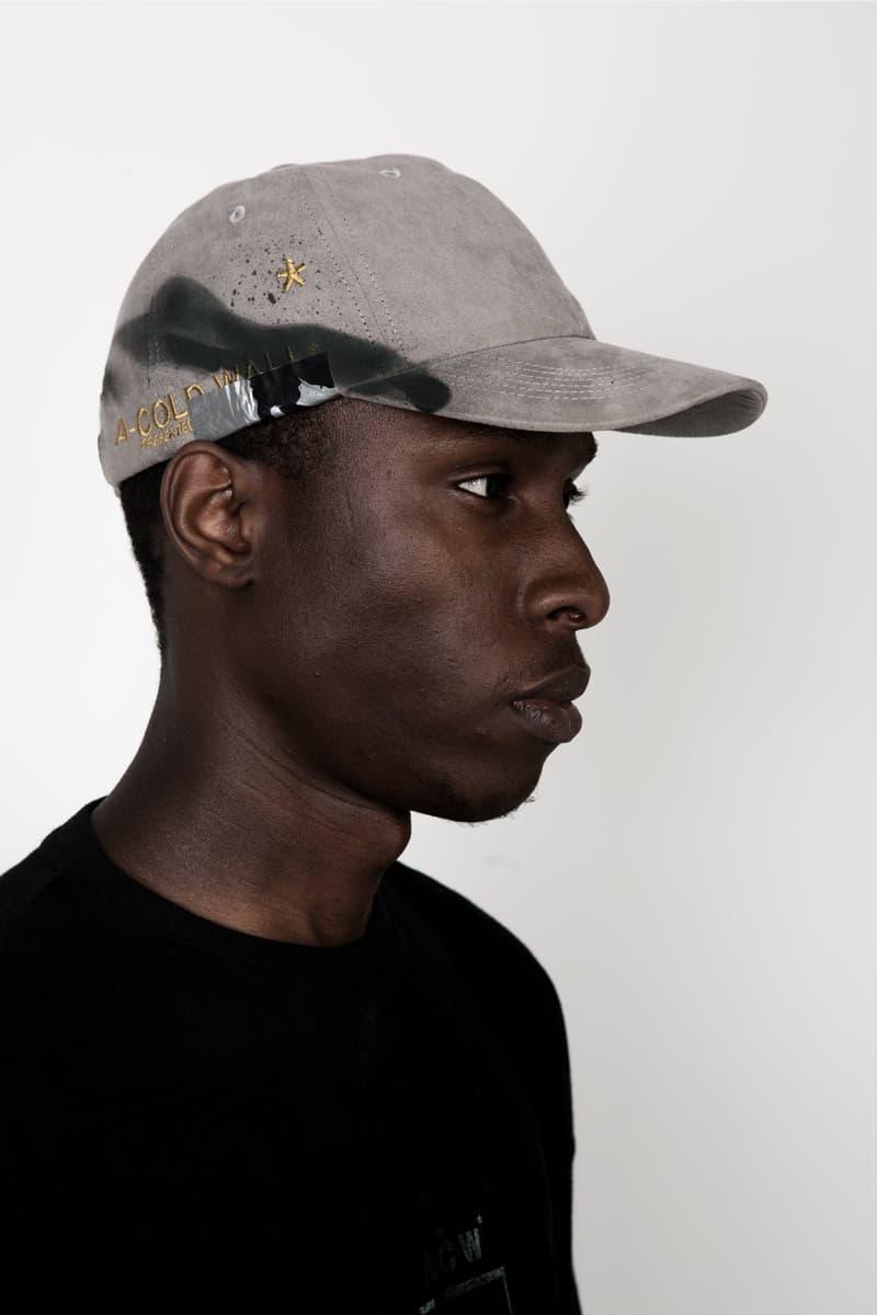 A-COLD-WALL* Painted Baseball Caps Samuel Ross Fashion Accessories Headwear Apparel