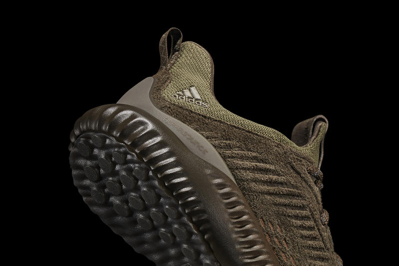 adidas alphabounce Suede Khaki Olive Footwear Shoes Sneakers 2017 July