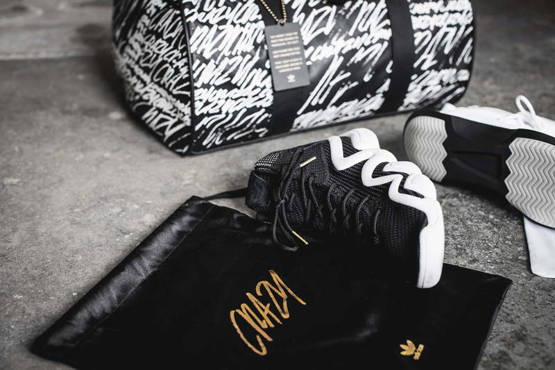 adidas Crazy 8 ADV Crazy 1 ADV Duffle Bag Gold Bracelet close up