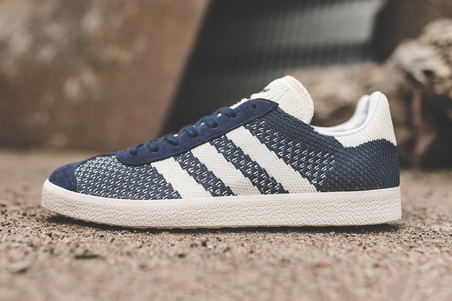 purchase cheap 2dcfc 5bfde The adidas Originals Gazelle Primeknit Gets a Fresh Navy Colorway