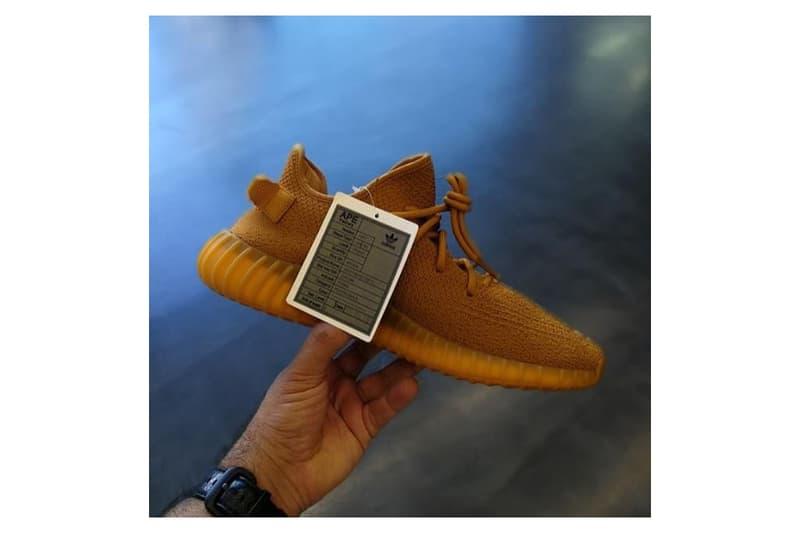 adidas Originals YEEZY BOOST 350 V2 Midnight Blue Orange Ochre Sample
