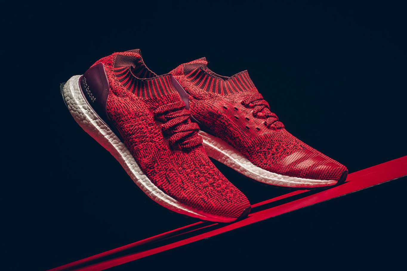 adidas UltraBOOST Uncaged Red/Burgundy
