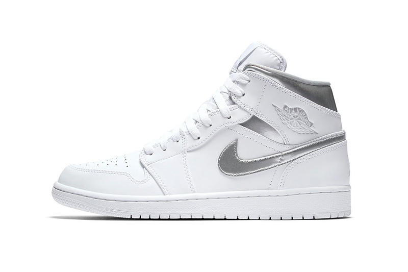 super popular ede35 33a75 Air Jordan 1 Mid Metallic Silver