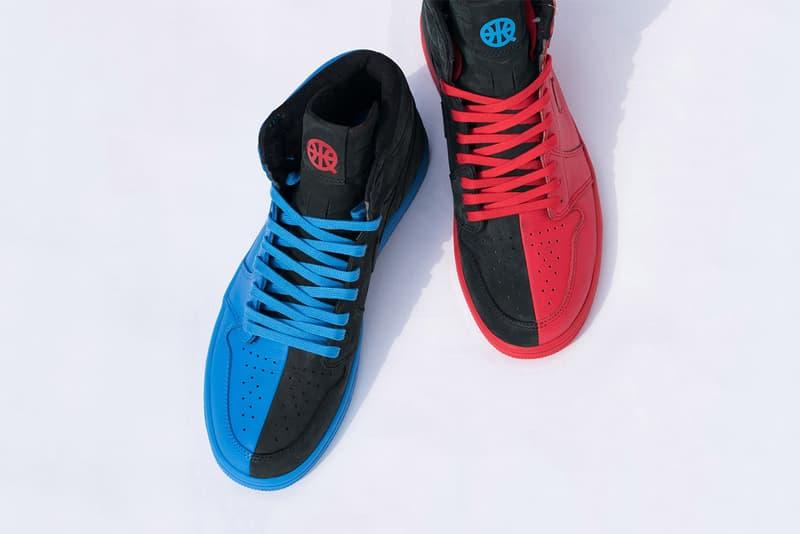 Air Jordan 1 Retro High OG Quai 54 Friends Family sneaker sneakers shoes shoe kicks paris blue black red