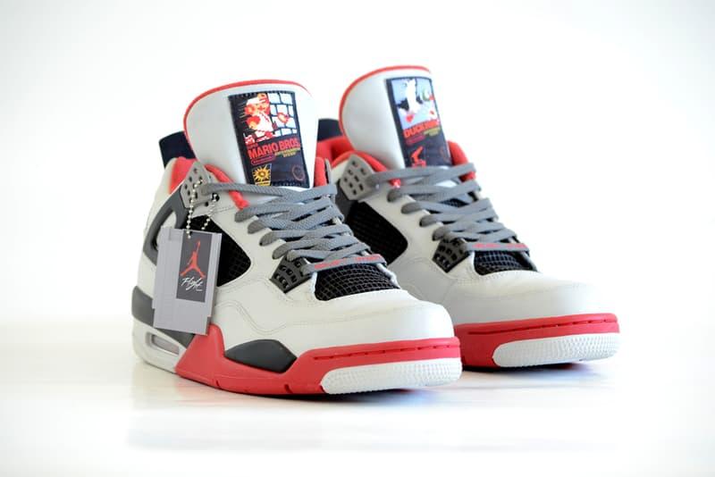 Air Jordan 4 NES Custom FreakerSNEAKS Nintendo Entertainment System Footwear Shoes Sneakers Super Mario Bros Duck Hunt