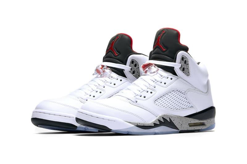 """Air Jordan 5 """"White Cement"""" Closer Look"""
