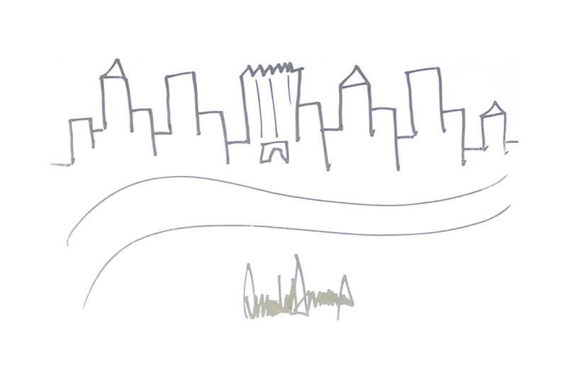 Donald Trump Sketch of New York City Skyline Auctioned For 29000
